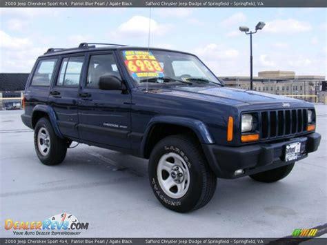 2000 jeep black 2000 jeep sport 4x4 patriot blue pearl agate