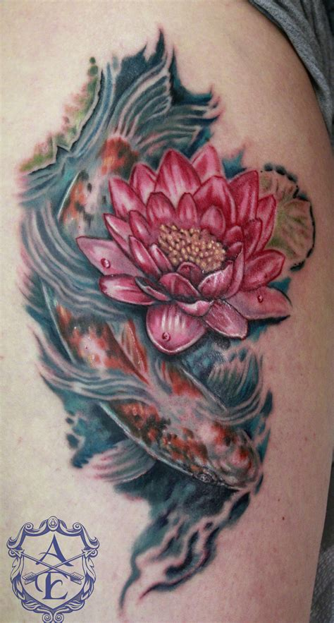 koi fish with lotus flower tattoo designs sketch koi fish pictures to pin on