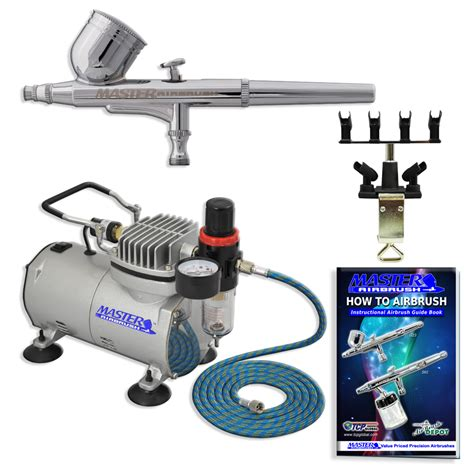 new air compressor with dual airbrush kit spray nail quot quot ebay