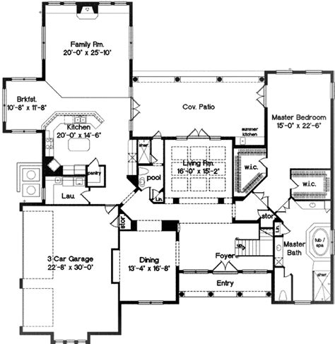 2nd floor balcony plans second floor balcony 83309cl 1st floor master suite