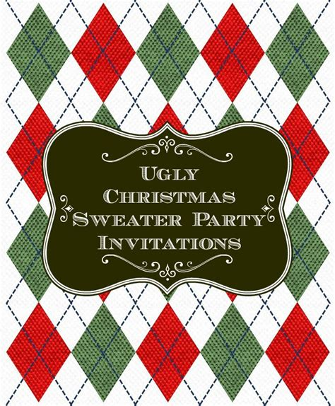 creative christmas party invitations sweater invitations unique decorations