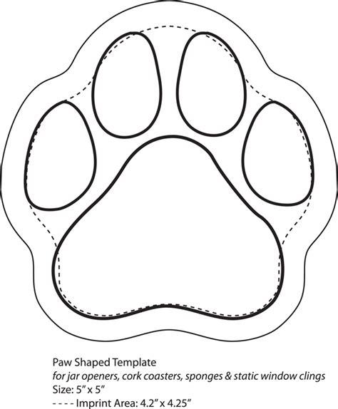 felt shape templates paws template printable nextinvitation templates