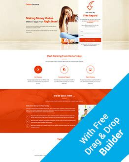 Lead Gen Online Income Squeeze Page Template With Free Landing Page Builder Olanding Real Estate Squeeze Page Templates