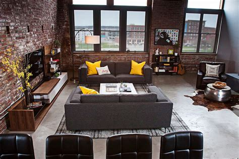 urban loft plans dashing urban loft uses contrasting textures to create