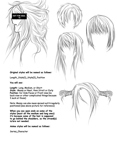 manga hairstyle short long front sides anime hair brushes by orexchan on deviantart