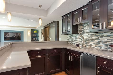 Renovation Kitchen Cabinets by Virginia Basement Wet Bar Finished Basement Company
