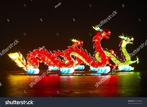 new year lantern festival lightful dragons in new year lantern festival