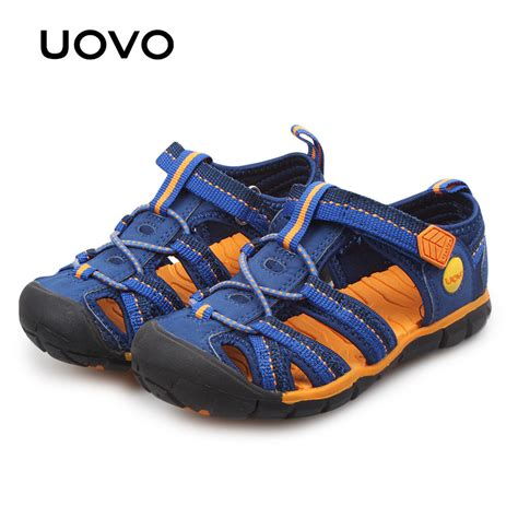 Sandals For Boys by Uovo 2018 Children Sandals Boys Shoes Blue Big Sport Shoes For Boy Fashion Summer