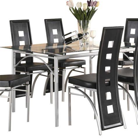 dining coaster los feliz black metal chair coaster fine coaster los feliz contemporary metal dinner table in matte