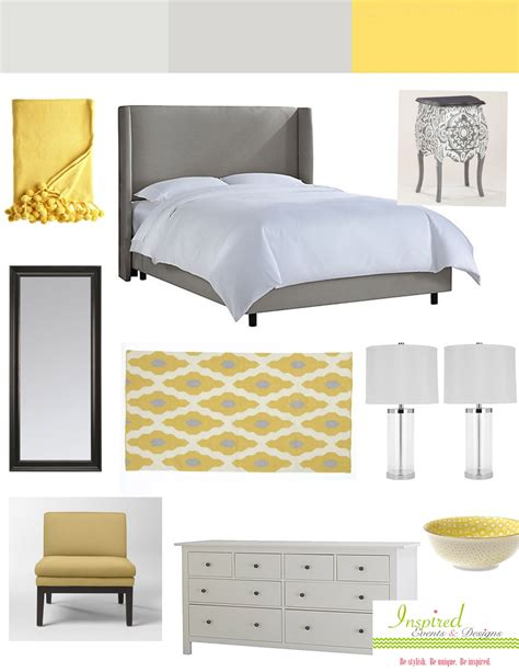 Grey yellow bedroom tjihome