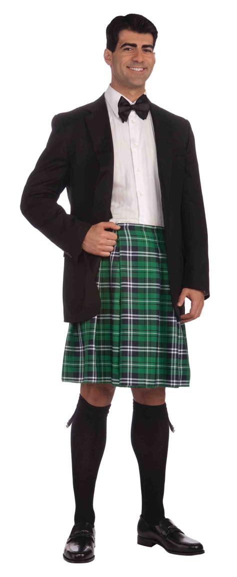 Plaid Vs Tartan by Mens Green Scottish Kilt Costume Mr Costumes