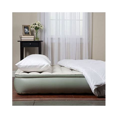 aerobed 12 quot elevated air bed mattress with edge ring ebay