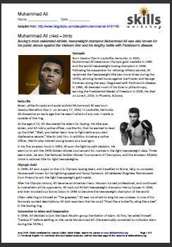 Muhammad Ali Biography Essay by Sport Skills Workshop
