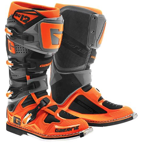 size 8 motocross boots 2016 gaerne sg12 boots orange black dirtbikexpress