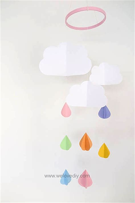 Paper Craft Software - paper raindrop mobile by we diy portable cutting