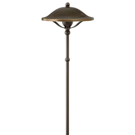Landscape Lighting Products Hton Bay Floral Shepherd Hook Low Voltage Bronze Outdoor Integrated Led Path Light 29608