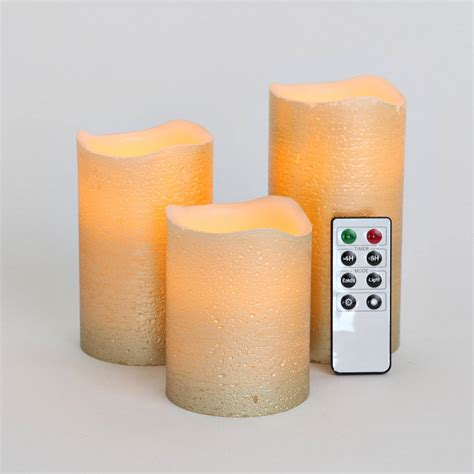 Emerson Flameless Candles With Timer by Lights Flameless Candles Pillar Candles Set Of 3