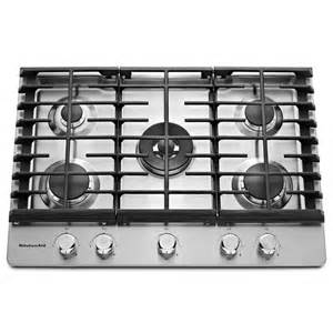 Stainless Steel Gas Cooktop Shop Kitchenaid 5 Burner Gas Cooktop Stainless Steel