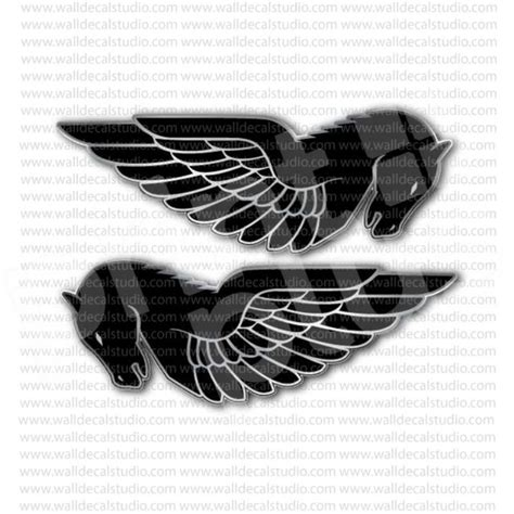 Sticker Ducati Vintage by Buell Motorcycle Vintage Emblem Sticker Set