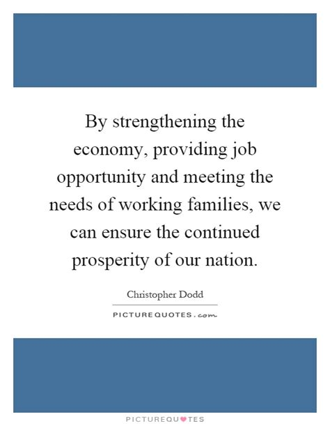 the economy of one creating opportunity instead of chasing books by strengthening the economy providing opportunity