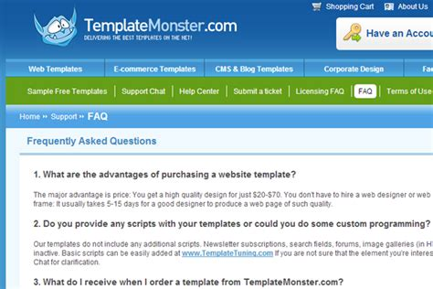 faq template 30 faq webpage layouts with effective user experience