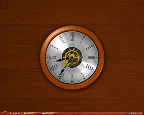 pc themes clock wincustomize explore desktopx themes manifest clock