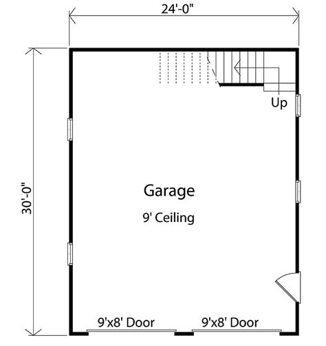 garage floor plan detached garage with loft 2234sl architectural designs