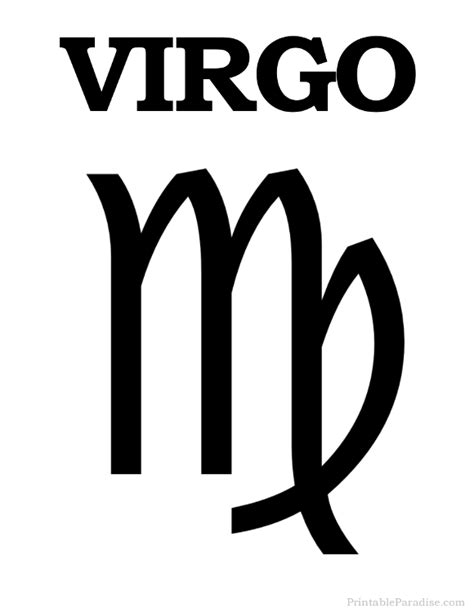 printable zodiac signs printable virgo zodiac sign print virgo symbol