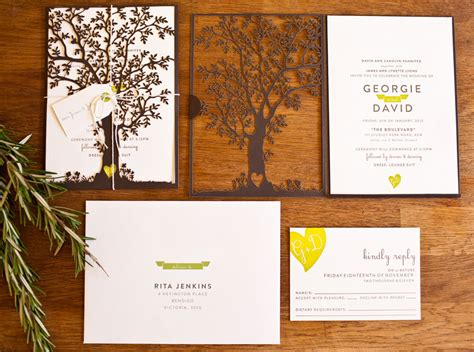 Wedding Invitations With Trees by Georgie Dave S Nature Inspired Wedding Invitations