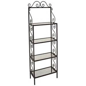 Bakers Rack Shelves Bakers Racks 24 W Traditional Bakers Racks W Glass