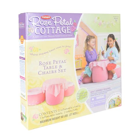Petal Cottage Table And Chairs Set by Playskool Petal Cottage Pink Table And