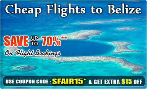 flights to belize get cheap flights to belize airfare deals with smartfares