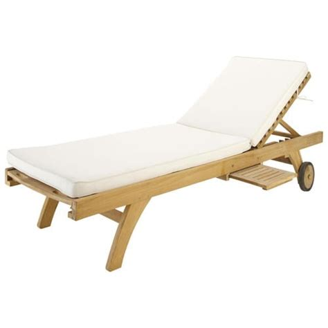 Sun Lounger Mattress by Ecru Sun Lounger Mattress Maisons Du Monde