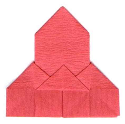 Religious Origami - how to make a traditional origami church page 7