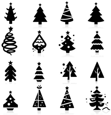 christmas tree silhouette vector free images