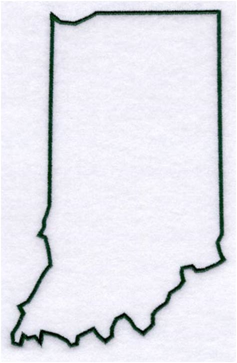 Indiana State Outline Clipart by Machine Embroidery Designs At Embroidery Library Embroidery Library