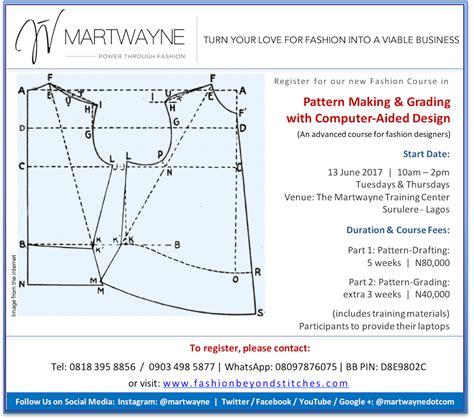 pattern grading online course martwayne power through fashion