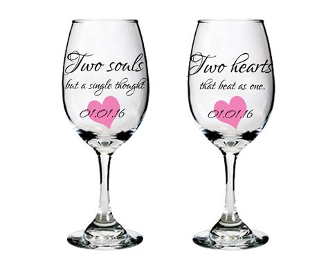 wine glass sayings wine glasses with sayings bride and groom wine glasses