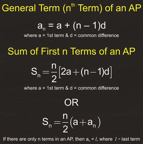 sum of the first n terms of an arithmetic progression a