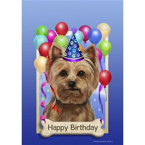 happy birthday yorkie images yorkie puppy cut happy birthday flag by tamara burnett furrypartners