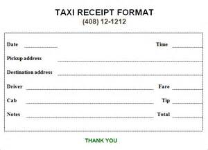 Limo Receipt Template 9 Taxi Receipt Templates Free Samples Examples Format
