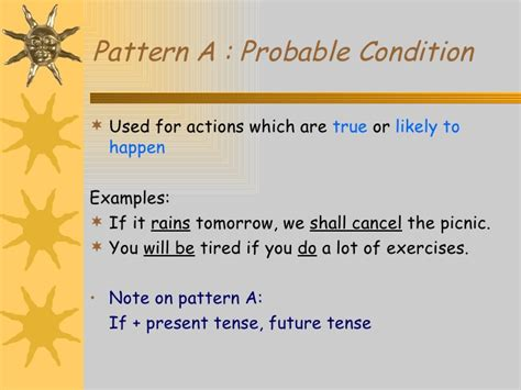 the pattern of conditional sentences conditional sentences