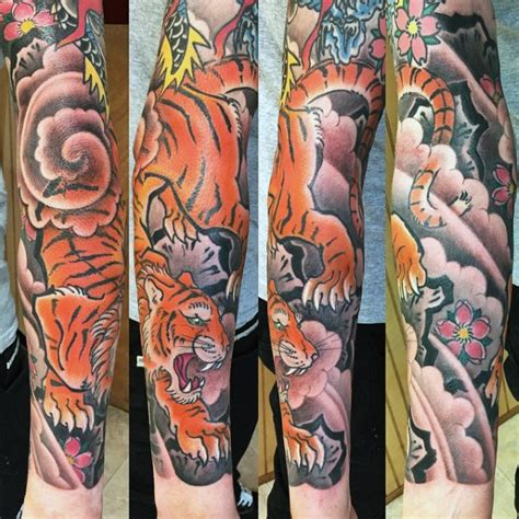 japanese tiger sleeve tattoo designs 70 japanese tiger designs for masculine ideas