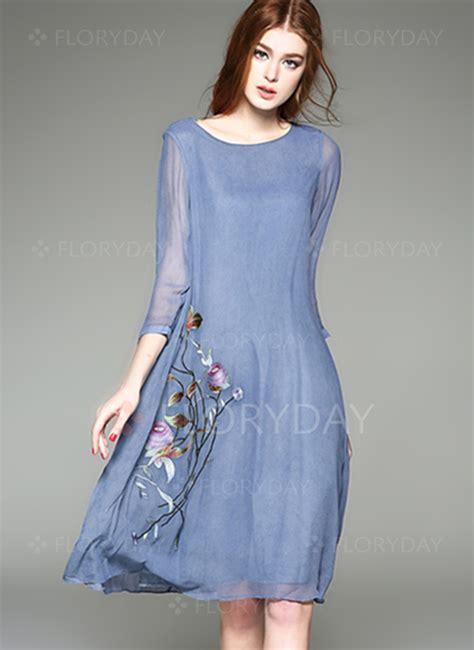 Verra Dress T3009 2 floryday abito di casual floreale in chiffona al ginocchio 1955100313