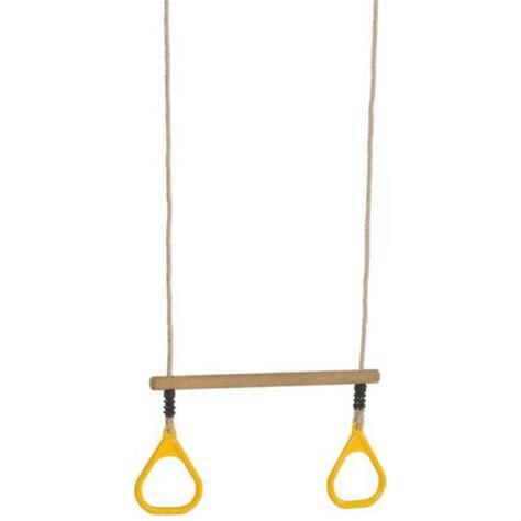 Trapeze Balancoire by Paire D Anneaux Trapeze Pour Portique En Bois