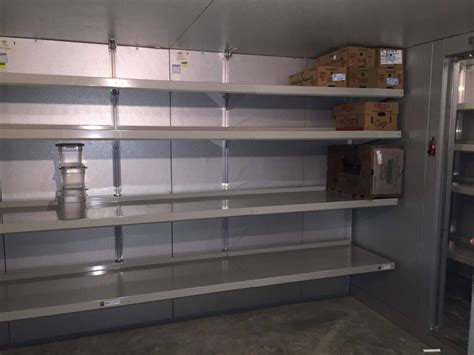 walk in cooler unit walk in cooler shelving by e z shelving systems inc