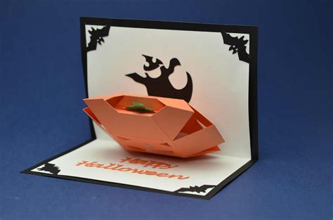 corner pop up card templates pop up card 3d pumpkin creative pop up cards