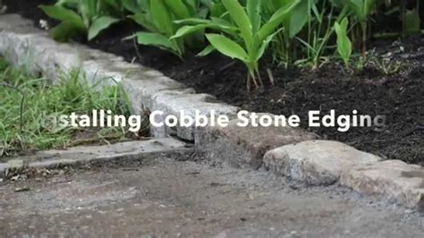 Mortar Mix For Patio Installing Cobblestone Edging Youtube