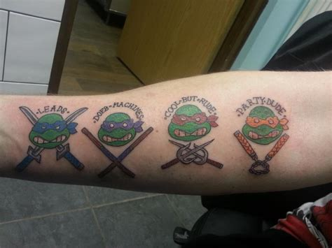 tmnt tattoos tmnt by mattyowl on deviantart