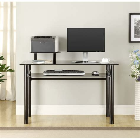 innovex glass computer desk amp reviews wayfair